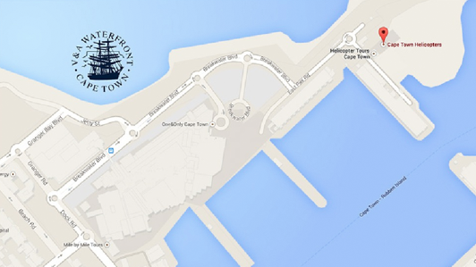 Cape Town Helicopters map